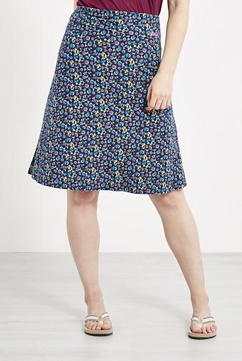 Malmo Printed Jersey Skirt Ink