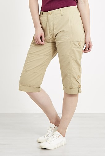 Salena 3/4 Length Trousers Alabaster