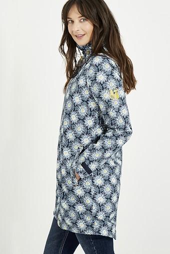 Cosmo Printed Waterproof Jacket Dark Navy