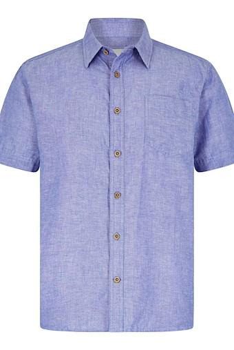 Lanark Short Sleeve Linen Shirt Denim