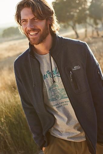 Whitburn Full Zip Lined Macaroni Sweatshirt Black Iris