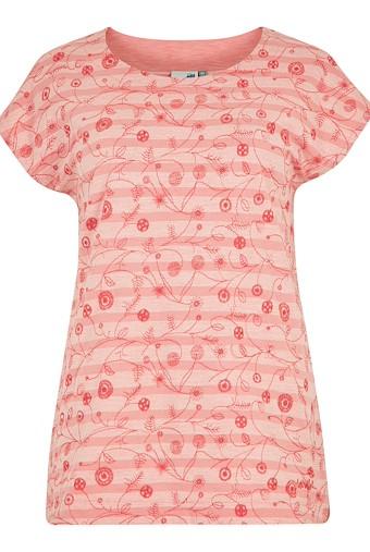Nova Embroidered Stripe T-Shirt Pale Coral