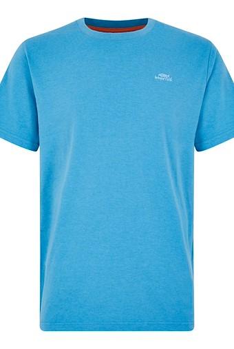Fished Branded T-Shirt Copen Blue Marl