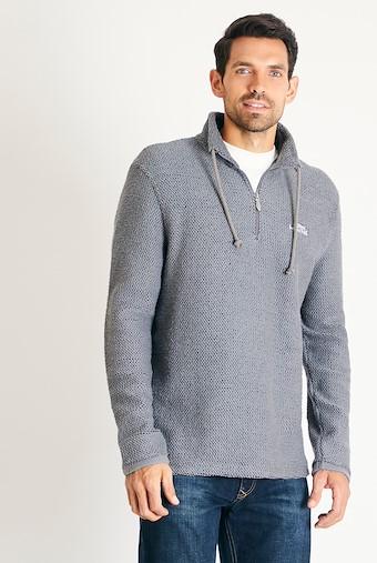 Cruiser 1/4 Zip Classic Macaroni Sweatshirt Cement