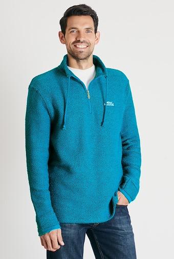 Cruiser 1/4 Zip Classic Macaroni Sweatshirt Blue Jay