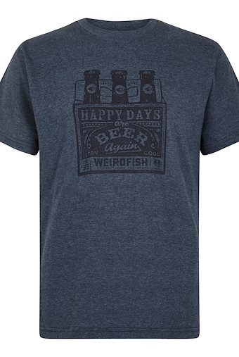 Happy Days Branded T-Shirt Navy Marl