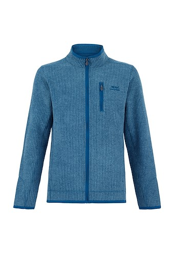 Rossten Full Zip Grid Fleece Jacket Deep Sea Blue