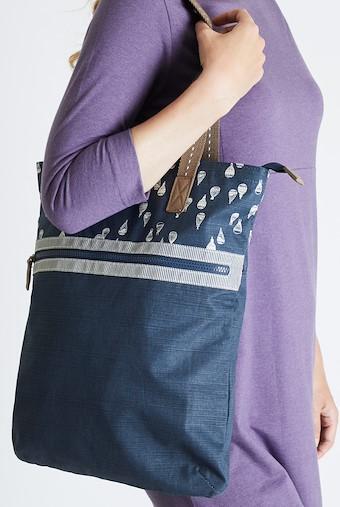 Sina Printed Shopper Bag Dark Navy
