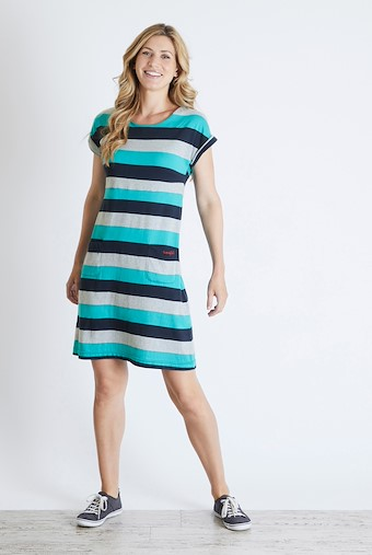 Tallahassee  Printed Jersey Dress Navy