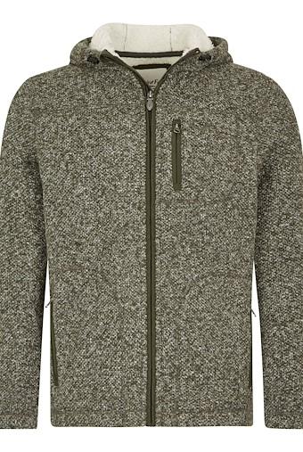 Leckie Plain Bonded Fleece Jacket Dark Olive