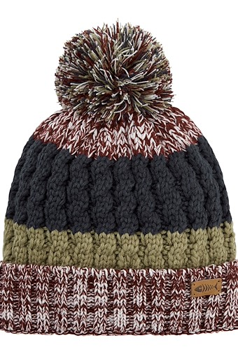 Gomez Striped Twisted Yarn Hat Pinot Wine