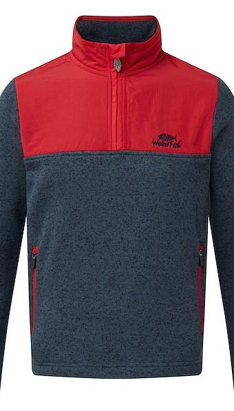 Hopper 1/4 Zip Soft Knit Fleece Sweatshirt Dark Navy