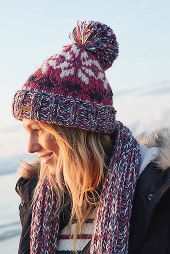 Ellen Fair Isle Bobble Hat Malaga