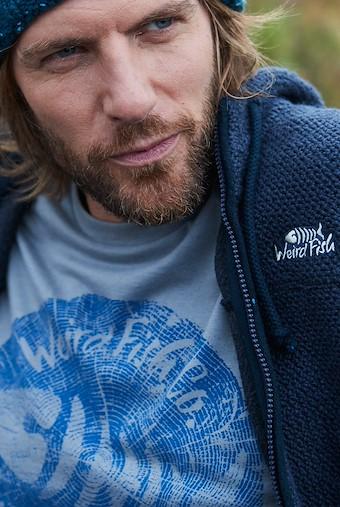 Woodcut Branded T-Shirt Gunmetal Marl