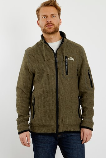 Whitburn Full Zip Tech Macaroni Dark Olive