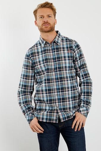 Gonzalo Long Sleeve Check Shirt Copen Blue
