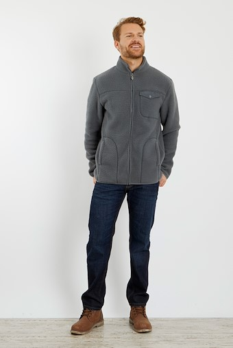 Ellroy Full Zip Fleece Jacket Cement