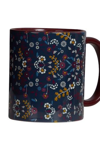 Glenveagh Floral Two Tone Printed Mug Navy