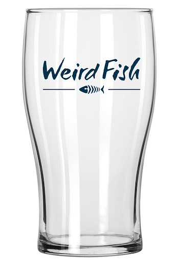 Veagh Weird Fish Pint Glass Navy