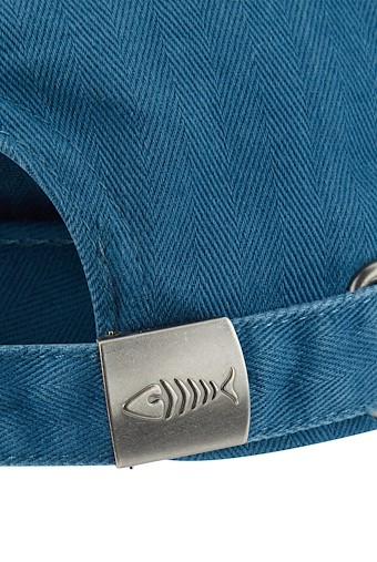 Scarfell Branded Herringbone Cap Deep Sea Blue