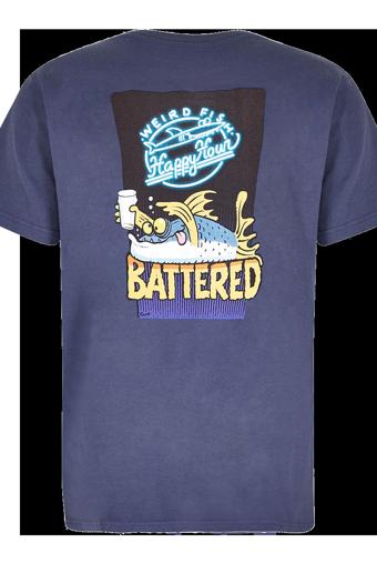 Battered Artist T-Shirt Blue Indigo
