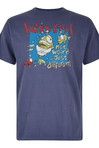 Not Weird Artist T-Shirt Blue Indigo