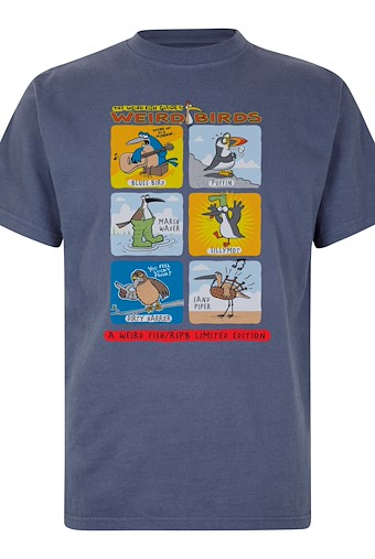 Weird Birds Artist T-Shirt Blue Indigo