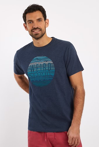 Sunset Graphic T-Shirt Navy
