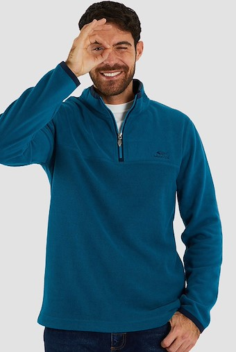 Rothay 1/4 Zip Fleece Sweatshirt Deep Sea Blue