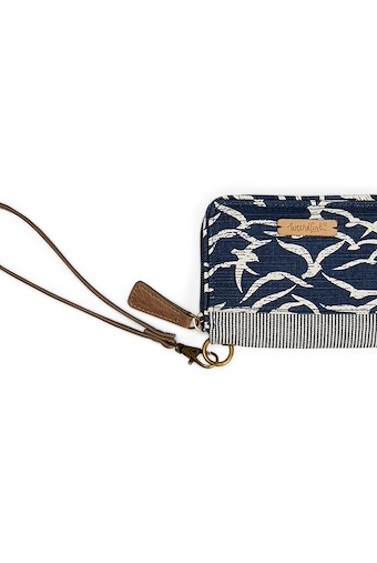 Esher Patterned Coin Purse Dark Navy