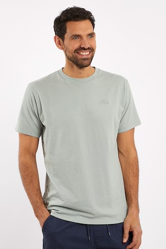 Fished Plain Branded T-Shirt Pistachio