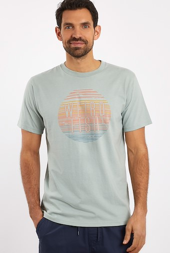Sunset Graphic T-Shirt Pistachio