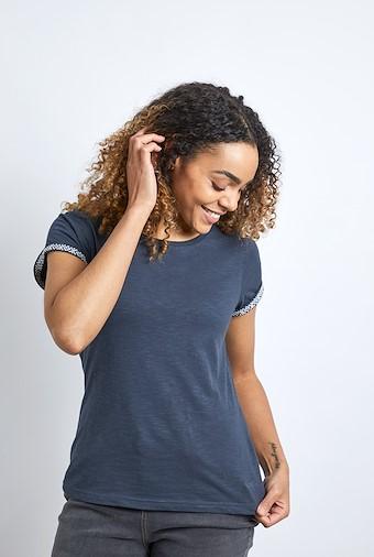 Trinity Cotton Short Sleeve T-Shirt Dark Navy