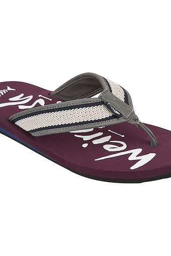 Waterford Branded Flip Flop Plum