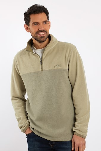 Rothay 1/4 Zip Fleece Sweatshirt Safari
