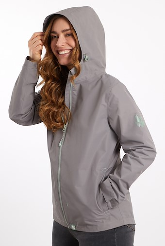 Tia Waterproof Jacket Ash Grey