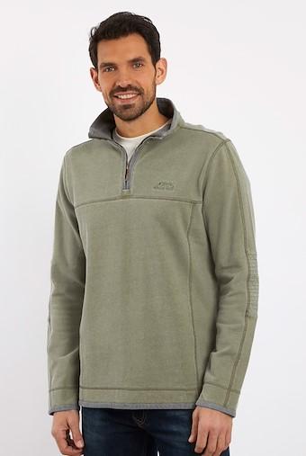 Kendall 1/4 Zip Pique Sweatshirt Safari