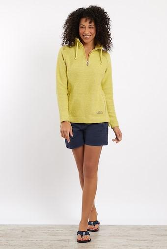 Geranium 1/4 Zip Macaroni Sweatshirt Lemon