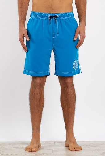 Cork Branded Board Shorts Blue Wash