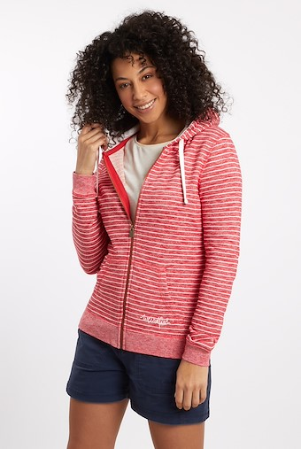 Nika Lightweight Loopback Full Zip Hoodie Radical Red