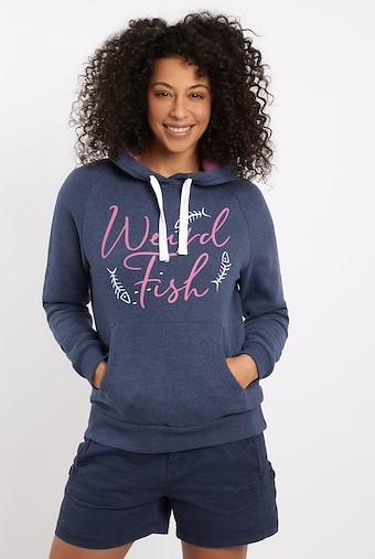 Anya Branded Popover Hooded Sweatshirt Dark Navy