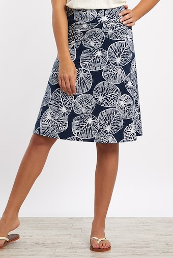 Malmo Patterned Jersey Skirt Midnight