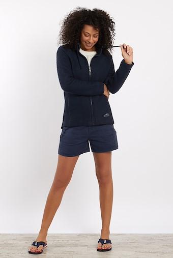 Holly Full Zip Classic Macaroni Sweatshirt Dark Navy