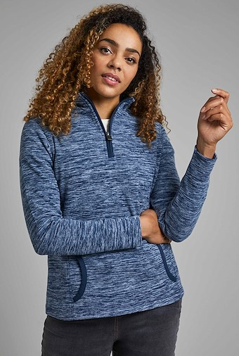 Nancy 1/4 Zip Fleece Dark Navy