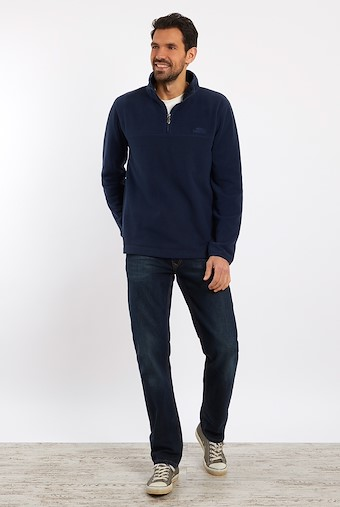 Rothay 1/4 Zip Fleece Sweatshirt Navy