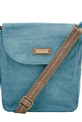 Loula Plain Cross Body Bag Deep Teal