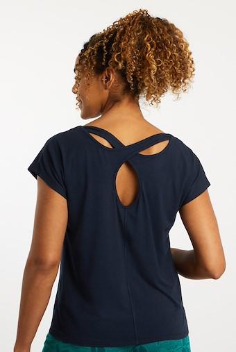 Athena Bamboo Yoga T-Shirt Navy