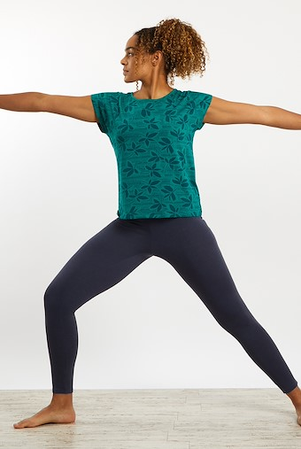 Kiana Bamboo Yoga T-Shirt Deep Teal