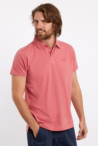 Quay Branded Polo Shirt Berry