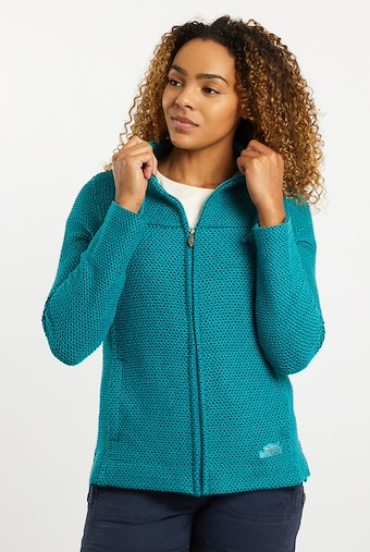 Lolly Full Zip Classic Macaroni Jacket Deep Teal